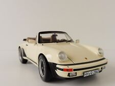 PORSCHE 911 Turbo Cabriolet 1987 Ivory 1/18 Norev 187661 G-Modell