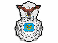 """4"""" AIR FORCE SECURITY FORCES POLICE BADGE MILITARY STICKER DECAL MADE IN USA"""