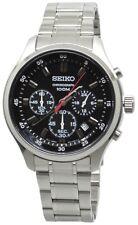 Seiko Quartz Chronograph SKS587 Black Dial Stainless Steel Men's Watch
