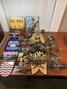 Kryptonics Skateboard lot Boards and parts wheels trucks books
