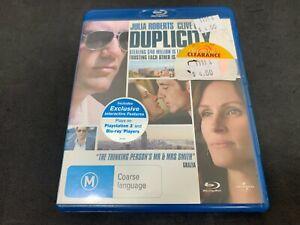 Duplicity (Julia Roberts) (2009) (M15+, Blu-Ray, B)