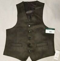 $125 NEW NWT RALPH LAUREN LRL MEN'S FAUX SUEDE DRESS VEST SIZE SZ M MEDIUM OLIVE