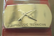 USN US NAVY USS SHIP SHORE AIR CRYPTOLOGIC TECHNICIAN RATE SPECIALTY BELT BUCKLE