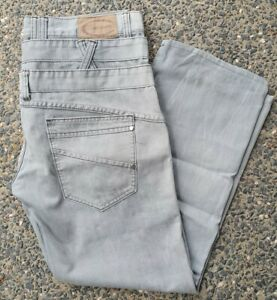 Chisel Men's Jeans Zip Up Fly Grey Size 36