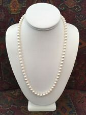New Mikimoto Cultured Pearl Necklace 18k Gold 22 Inches