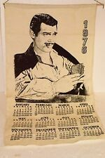 CLARK CABLE 1976 CALENDAR GONE WITH THE WIND VINTAGE CLOTH BURLAP PICTURE