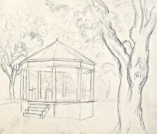 Dorothy Eaton Drawing (XLVI) Gazebo in Park