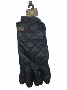 Polo Ralph Lauren Winter Gloves Adult Medium Black Touch Screen Quilted