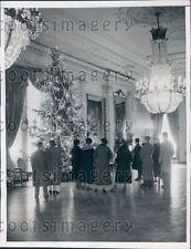 1935 Beautiful Christmas Tree Last Room White House Press Photo