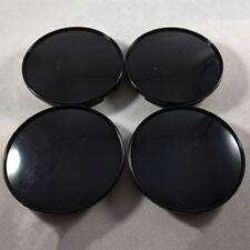 4X 68mm Universal ABS Car Wheel Center Hub Caps Covers Set No Emblem Black Parts