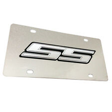 CHEVY CAMARO BLACK GRAY SS Metal Mirror Stainless Steel License Plate Sign Tag