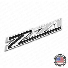 For Chevy 19-21 Silverado Z71 Fender Letter Sport Logo Emblem Badge Chrome Black