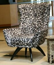 New Style Exotic Animal Print Arm Chair Striped Tiger Zebra Modern
