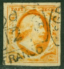 EDW1949SELL : NETHERLANDS 1852 Scott #3 Very Fine, Used. Choice stamp. Cat $125.