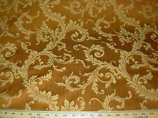 ~3 5/8 YDS~FLORAL SCROLLS~STRI ELEGANT WOVEN UPHOLSTERY FABRIC FOR LESS~