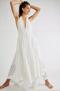 Free People Endless Sumer Norina White Maxi Dress Size XS