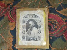 ancienne image religieuse dentelle holy card curé d ars sous verre