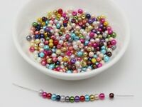 1000pcs Mixed Colour Loose Smooth Round Glass Pearl Beads 3mm Seed Spacer beads