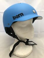 Bern Watts Bike Snow Skate Helmet Matte Cyan Blue Small 52-55.5cm All Season