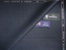 "DORMEUIL 95%WOOL&5%MOHAIR""Dk.Navy""SUITING FABRIC<TRAVELLER>MADE IN ENGLAND-3.4 m"
