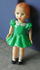 "Vintage Hard Plastic Sleepy Eyes Walker Girl Doll 5 1/2"" Tall"
