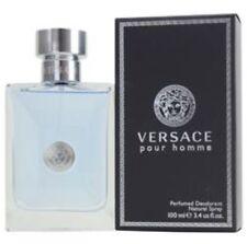 Versace Pour Homme Perfumed Deodorant Spray For Men 3.4 Oz/ 100 ml *SEALED*