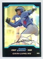 2004 Bowman Chrome CHIN-LUNG HU Rookie Card RC REFRACTOR #183 Dodgers TAIWAN 04