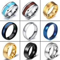 Gold Black Silver CZ Brushed Tungsten Carbide Ring Wedding Band Mens Jewelry