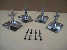 NEW 2 PAIR HINGE CLAMPS FOR SILK SCREEN PRINTING WITH MOUNTING SCREWS