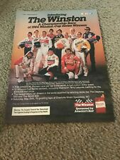 1985 NASCAR WINSTON CHAMPIONSHIP Poster Print Ad BILL ELLIOTT DALE EARNHARDT ++
