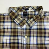 Enyce Button Up Shirt Mens 5XL Multicolor Plaid Short Sleeve Casual