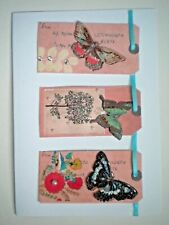 PAPER MAGIC ~ GLITTERY BUTTERFLIES & GEMS BIRTHDAY GREETING CARD + ENVELOPE