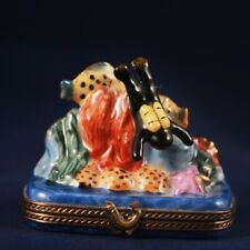 Limoges trinket box Scuba Diver With Fish. Rare