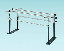 7' Folding Parallel Bars, Steel Bases, with Black Powder Coated Posts  1 EA