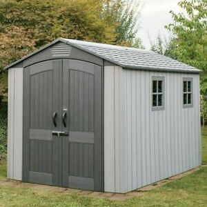 Garden Shed Skylight lifetime 12ft (2.1 x 3.7m) outdoor Wood bike bin Storage