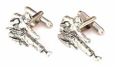 Karate Self Defence Hand Made Pewter Cufflinks (N267) Gift Boxed