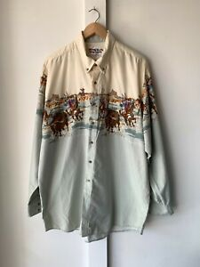 Vintage Looney Tunes Western Collection Shirt 2XL made in USA
