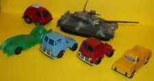 6 VTG HO SCALE TOY TRUCK CAR TYCO RAILROAD LINDBERG FORD JVZ TAKARA WIND-UP TANK