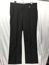 Pierre Balmain Paris Flat Front Men's Black Dress Pants Size 92 (US Size 36)