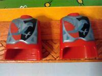 PLAYMOBIL x2 TORSOS TORSO ROJO HALCON CABALLEROS MEDIEVALES CABALLERO MEDIEVAL