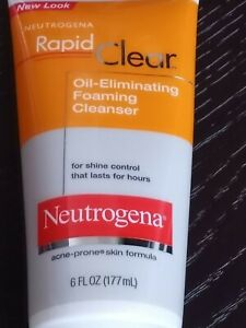 NEUTROGENA Rapid Clear Oil Eliminating Foaming CLEANSER 6 fl oz Acne Prone