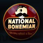 "National Bohemian Beer Mr. Natty Boh Vintage Glass Globe Light ""Glow"" Sign Rare"