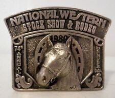 1980 National Western Stock Show and Rodeo Belt Buckle Horse Denver CO 74th Ann