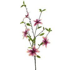 Buy magnolia dried artificial flowers ebay quality artificial silk flowers magnolia 3 stem bunch mauve dark pink mightylinksfo