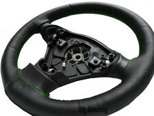 FITS SUZUKI GRAND VITARA I 98-05 BLACK LEATHER STEERING WHEEL COVER GREEN STITCH