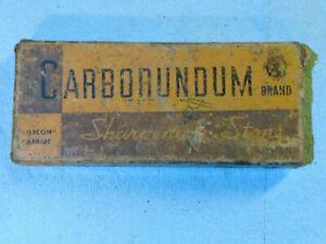 Vintage Carborundum Sharpening Stone in Original Box