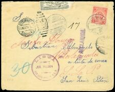 EDW1949SELL : MEXICO Scott #393D on Scarce 1914 cover with Great markings