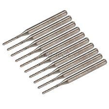 """10pcs 1.3mm Cutting CNC PCB Engraving Bits Rotary Burr 1/8"""" Shank"""