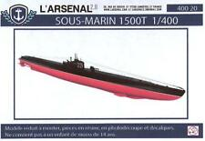 L'Arsenal Models 1/400 FRENCH 1500T SUBMARINE Resin & Photo Etch Model