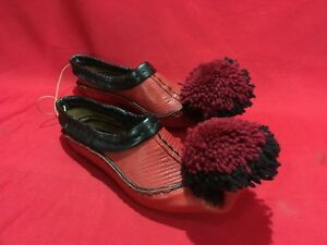 ALBANIA TRADITIONAL FOLK SHOES SOUTH 100% GENUINE LEATHER ALL SIZES LABE LABERIA